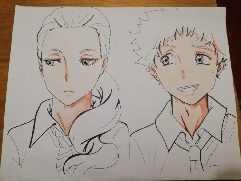 Proceso de Dibujo ( Tatara y Chinatsu) Ballroom e youkoso | •Anime ...