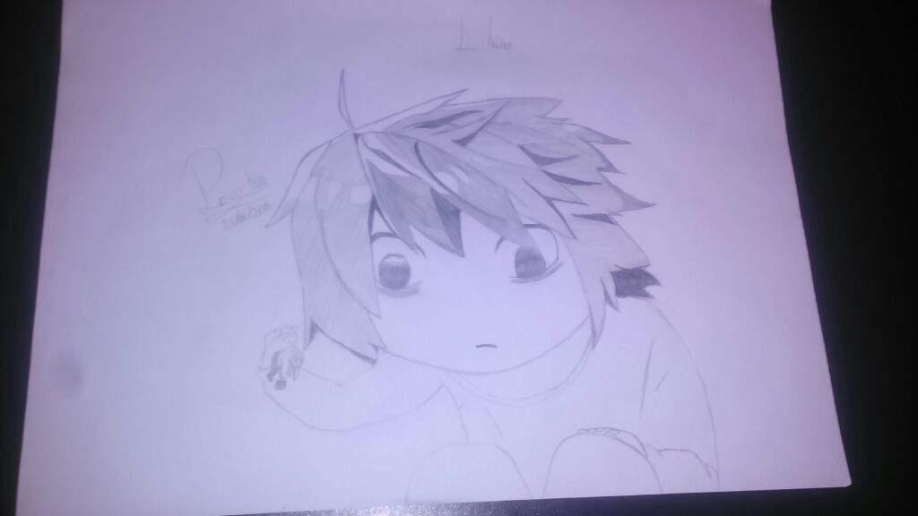 Desenho L Death Note Terror Under The Bed Amino