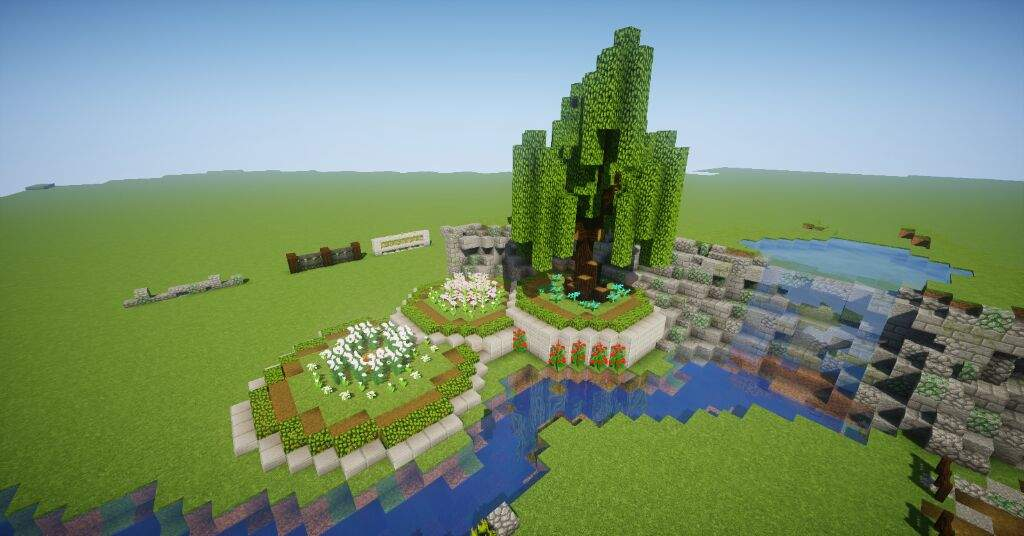 Quick Builds Ep 6 Gardens And Scenery Minecraft Amino
