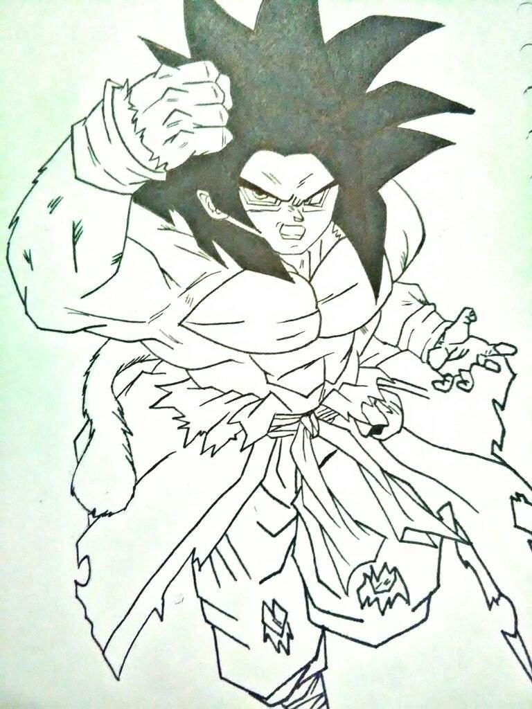Goku Xeno Super Sayajin 4 Dragon Ball Español Amino
