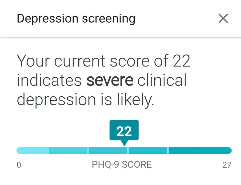 Took the google depression test | Dank Memes Amino
