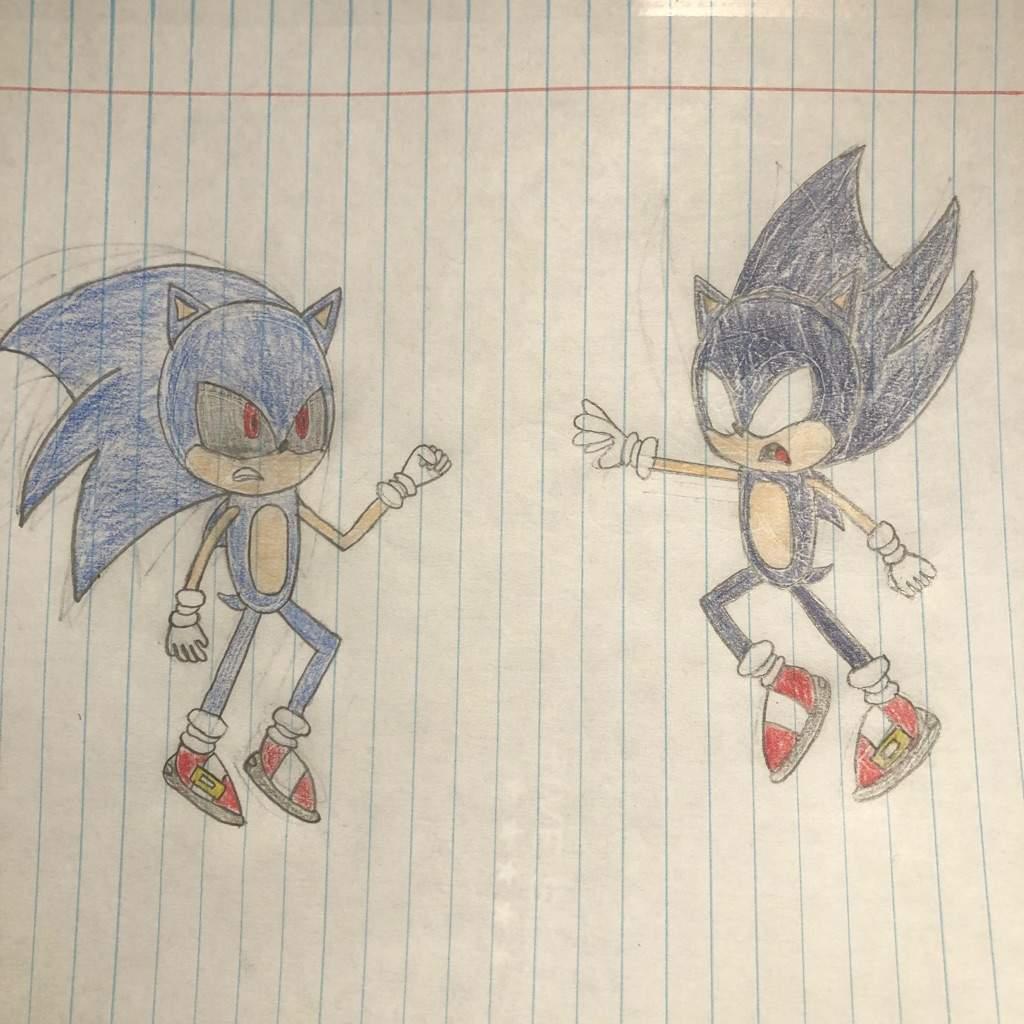 Dark Sonic vs Sonic EXE   Sonic the Hedgehog! Amino