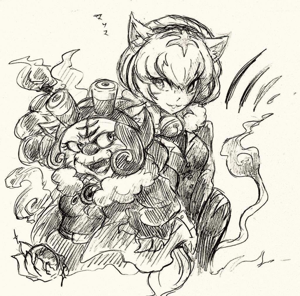 The Phantom Thief and Morgana by Fester1124 on DeviantArt |Phantom Thief Silver Cat