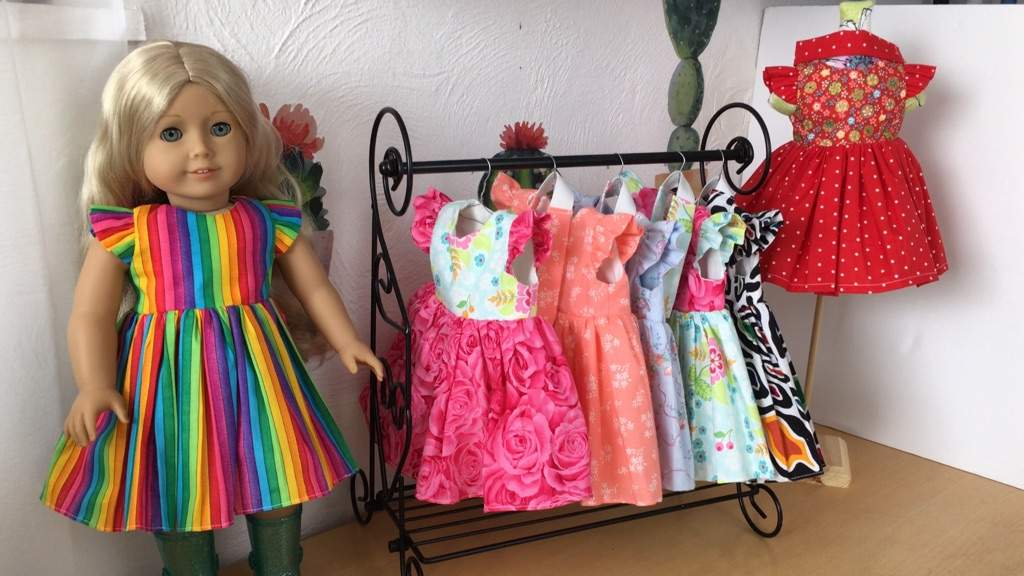 """DIY sewing ruffle flutter sleeve dress tutorials for 18"""" dolls ..."""