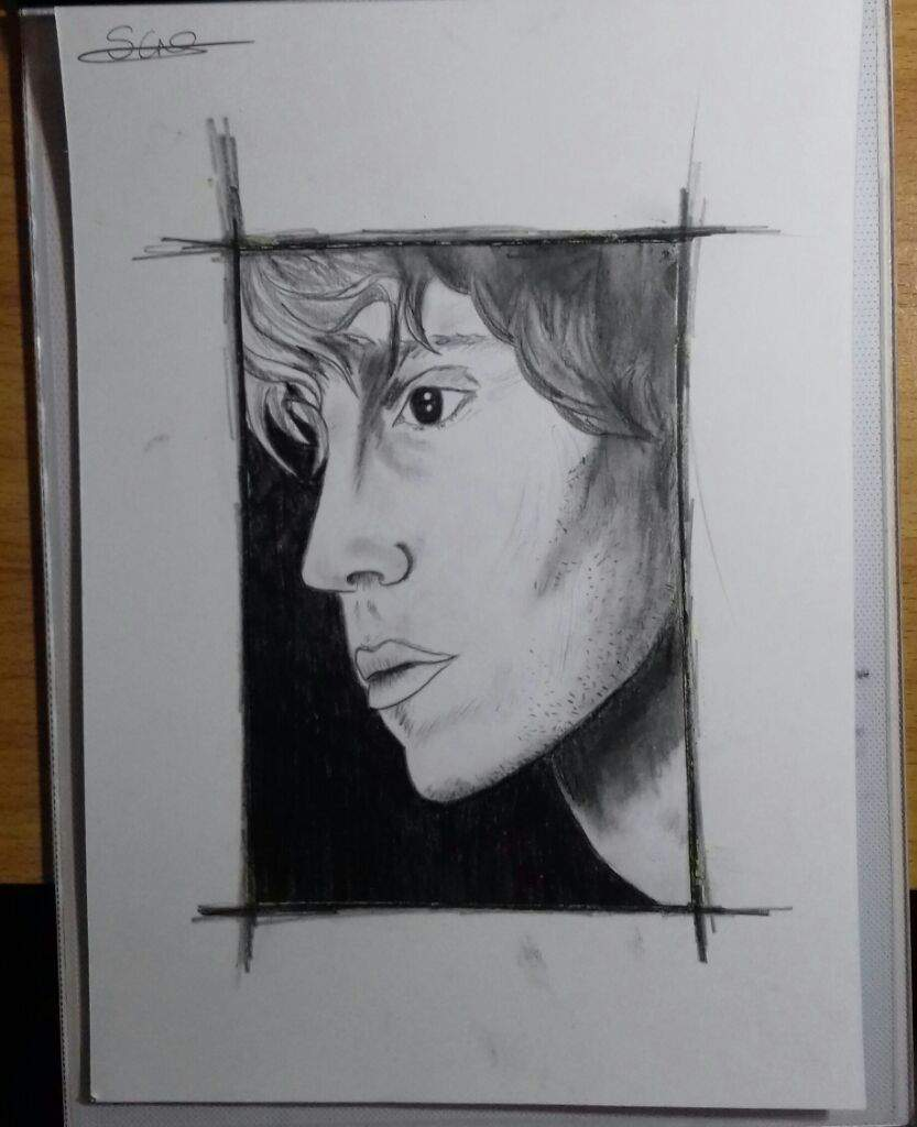 Finished my evan peters pencil drawing