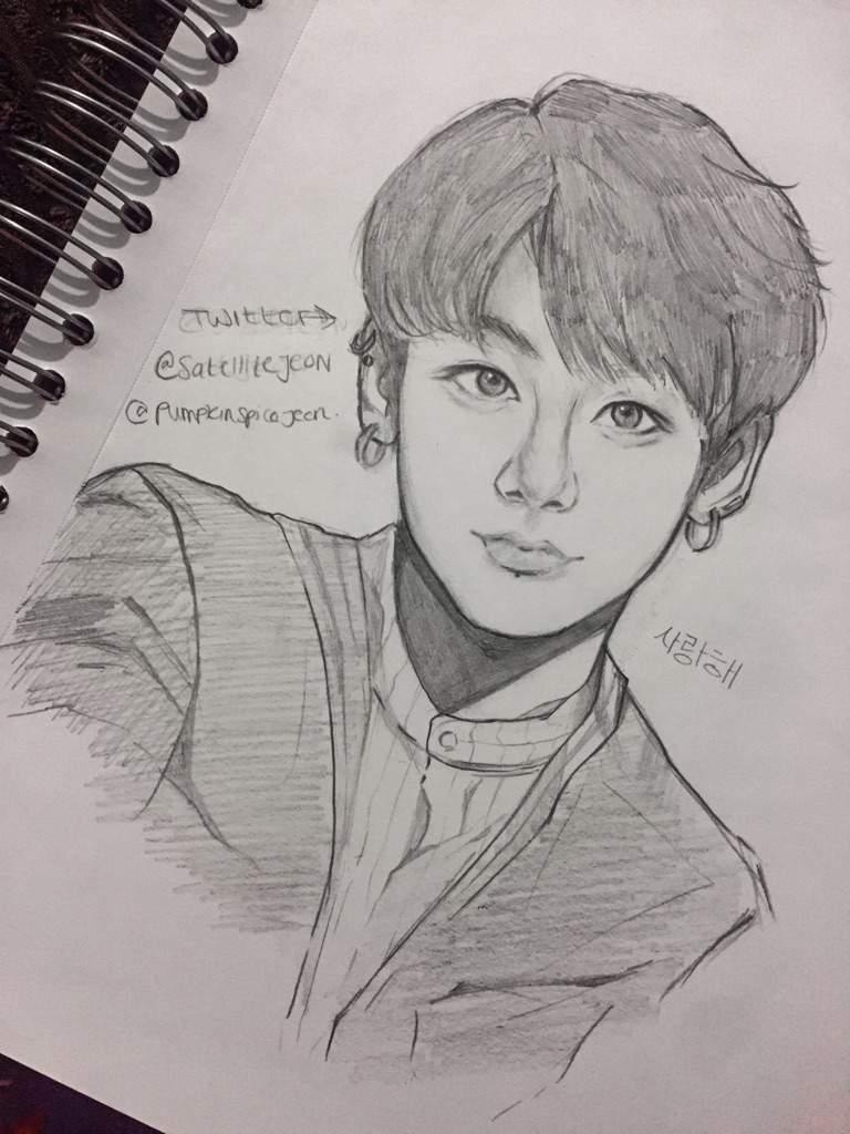 Jungkook Bts Drawings: BTS Jungkook Fanart!