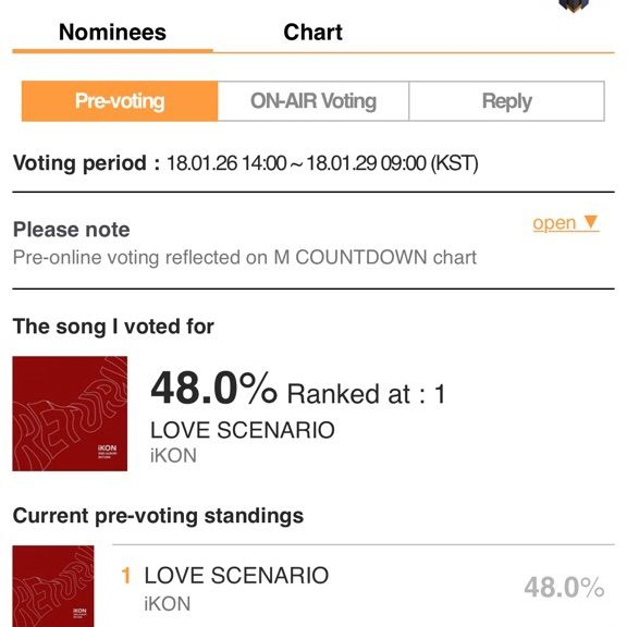 Closed Mcountdown Pre Voting W Reports Ikon Amino