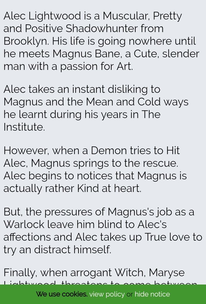 Found a plot generator online and tried to make a malec love story