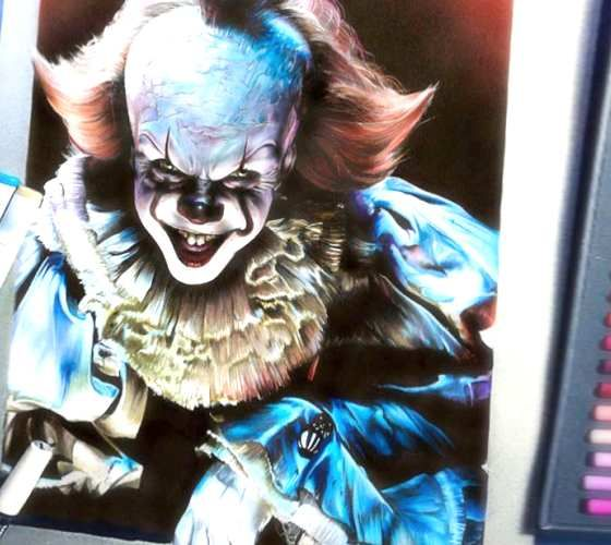 Pennywise Clown Pencil Drawing By Craig Deakes Horror Amino