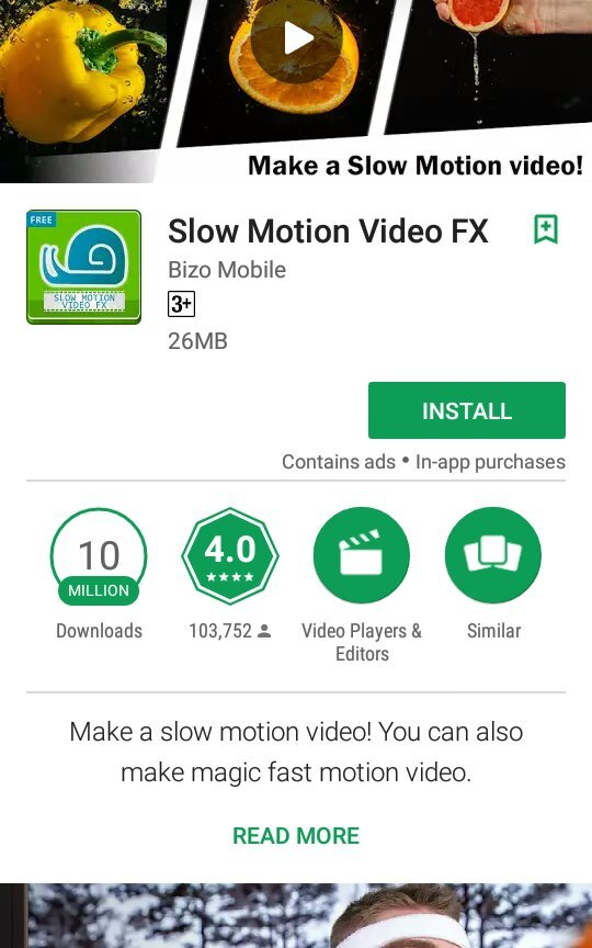 Slow Motion Video FX is the best slow motion camera and