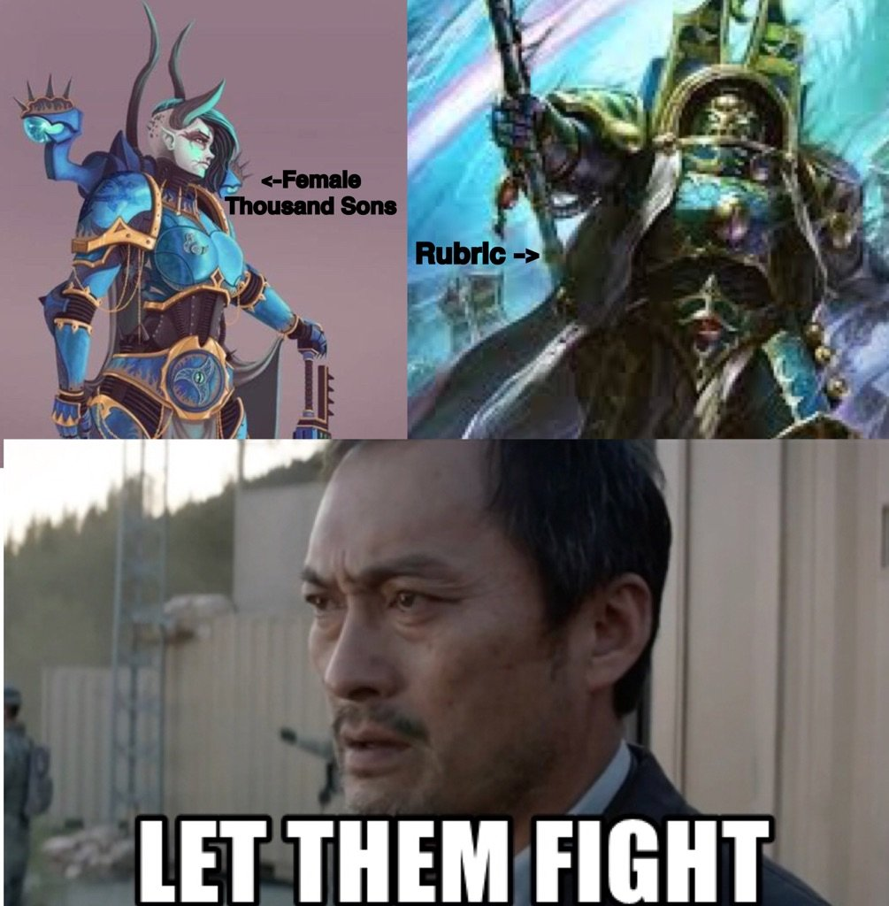 A homemade meme, made by yours truly   Warhammer 40K Amino