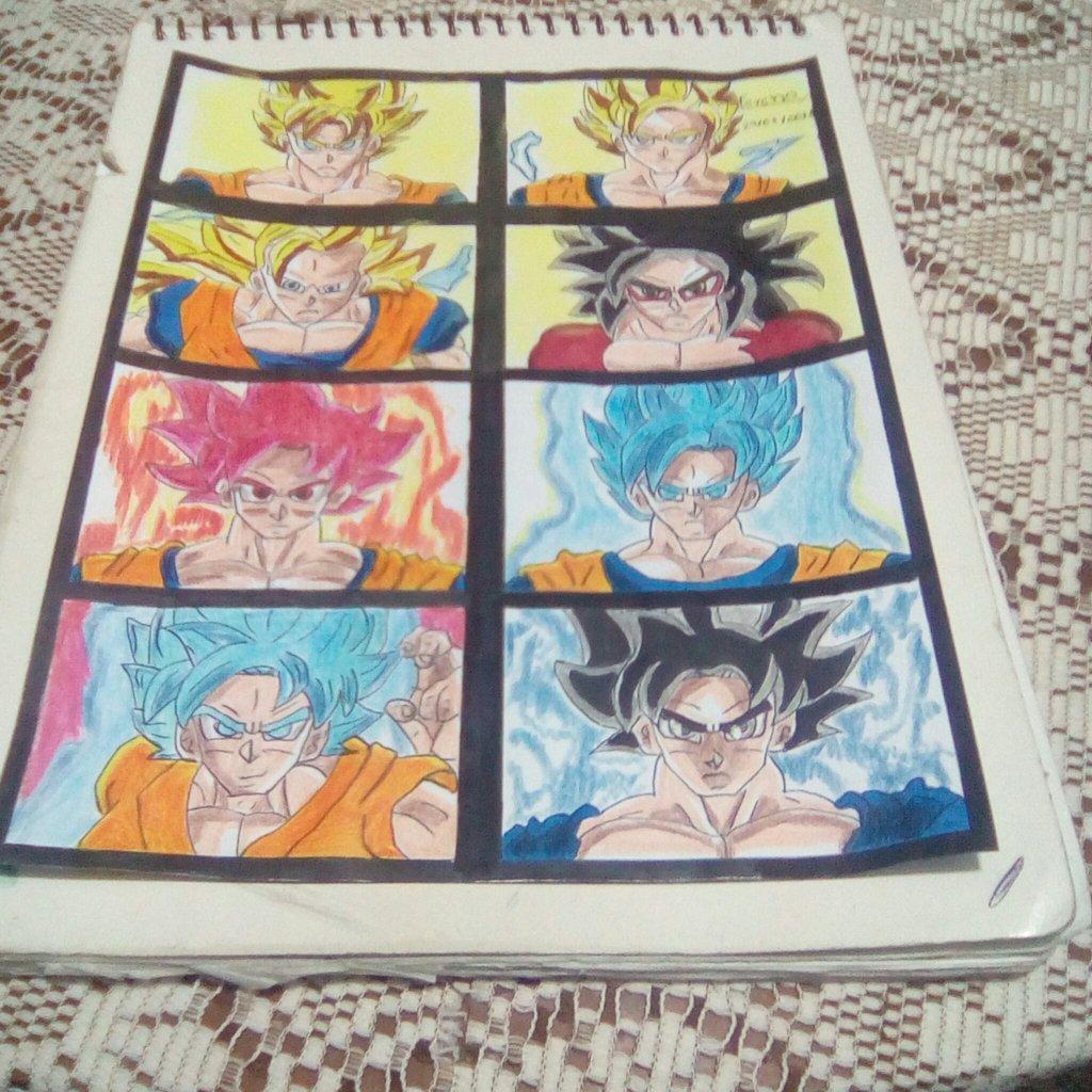 Goku Todas Sus Transformaciones Dragón Ball Z Dragón Ball Gt Dragón Ball Súper Bemart Amino