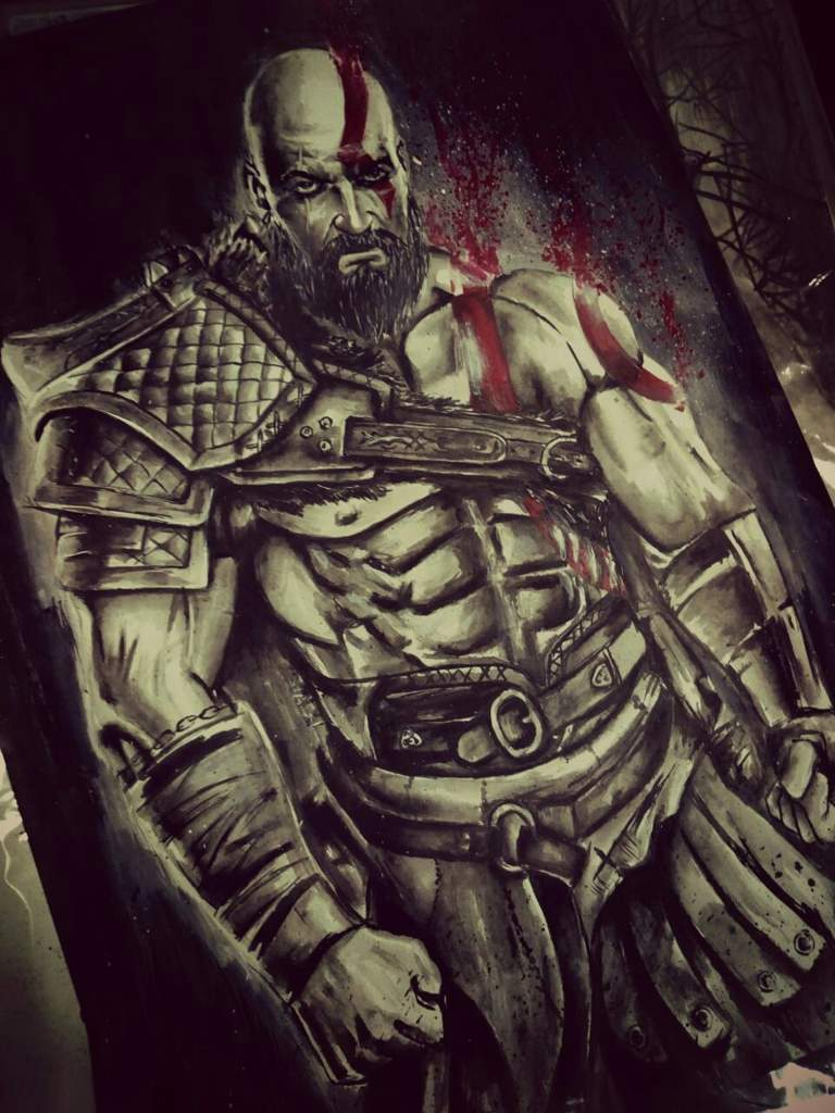 Kratos God Of War 4 Art Amino