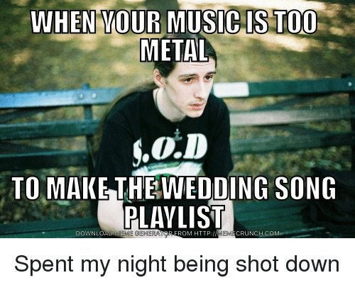 Pros and cons of dating a metalhead