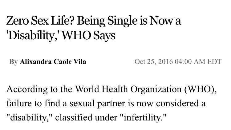 So basically... based on the World Health Organization... ace people can be  classified as disabled for not having intercourse.