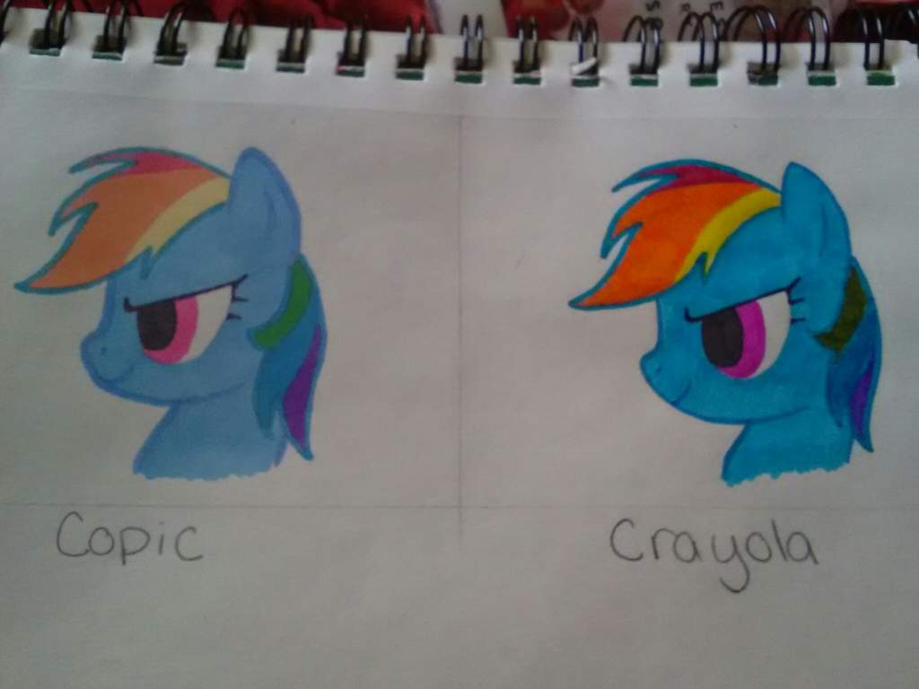 Copic Vs Crayola Equestria Amino Colored Pencils Long Isi 24 I Set Out The Colors Id Need For Coloring Rainbow Dash Outline Included Using A Permanent Marker Black