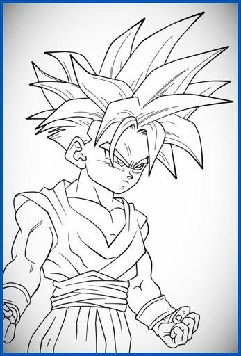 Imagen Fantasticos Dibujos Para Colorear Dragon Ball Gt Y Z