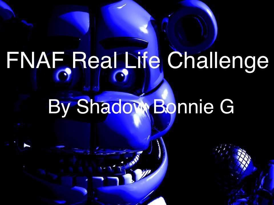 FNAF Real Life Challenge   Five Nights At Freddy's Amino