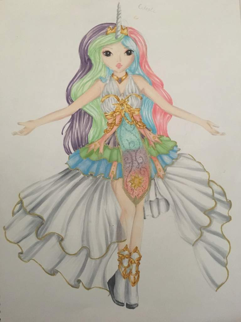 I Decided Some Weeks Ago That Wanted To Make A Dress Design For Celestia And Luna So Far Is The Only One Am Done With
