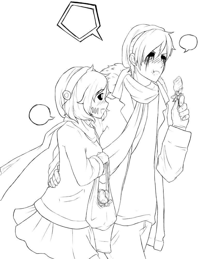 It is an image of Crush Creepypasta Coloring Pages