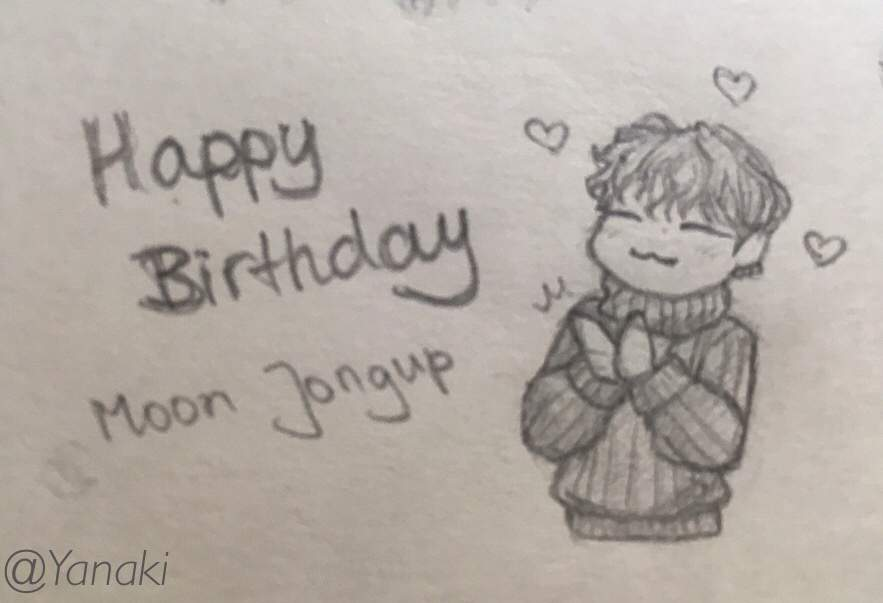 Happy Birthday Moon Jongup Sketches Bap Amino