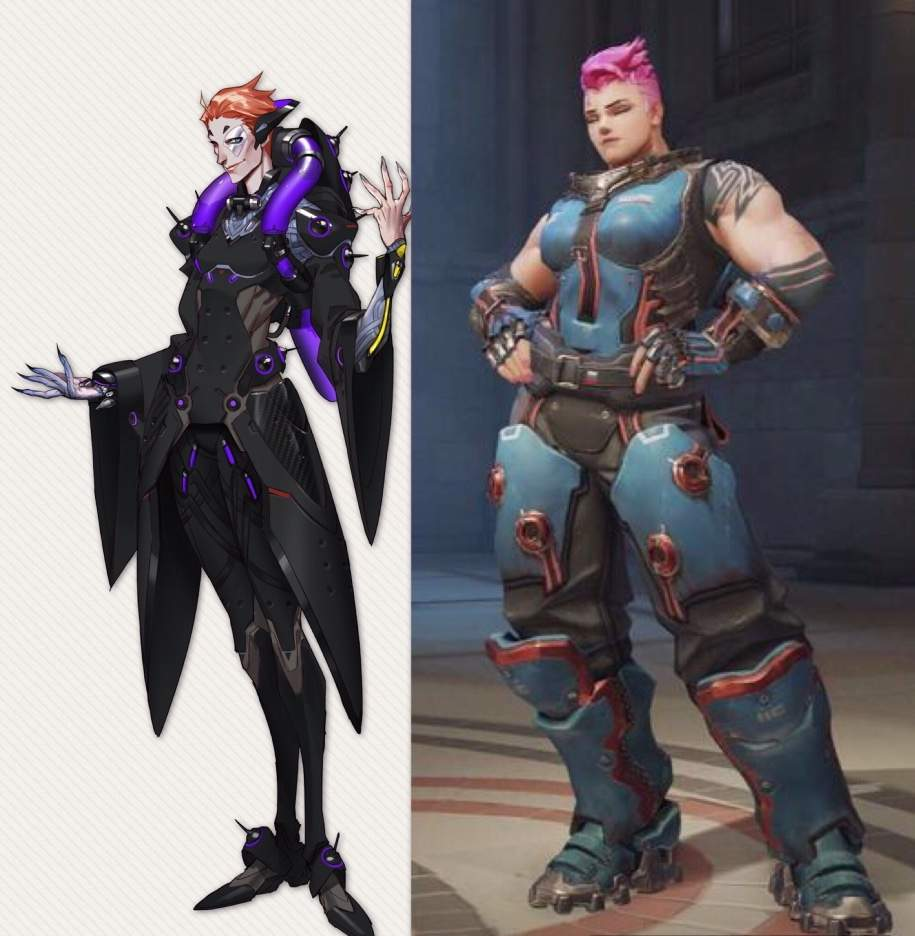Zarya S Concept Art Has Her Bending Knees Far Apart So I Had To Get A Picture Where She Is Standing Straight This Was The Best Could Do