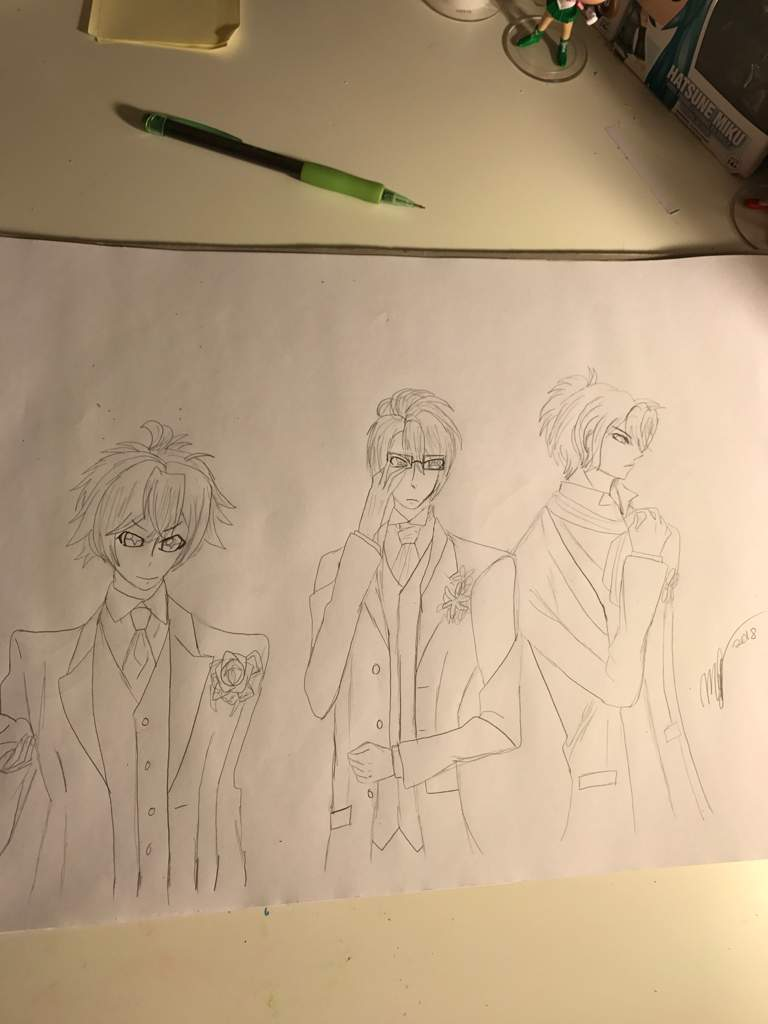 Ayato Reiji Shu Wedding Drawing Diabolik Lovers Amino