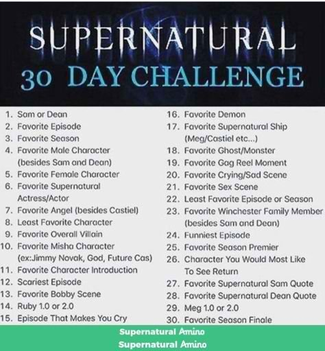 DAY NUMBA 12🤓🤓🤓 #30daychallenge | Supernatural Amino