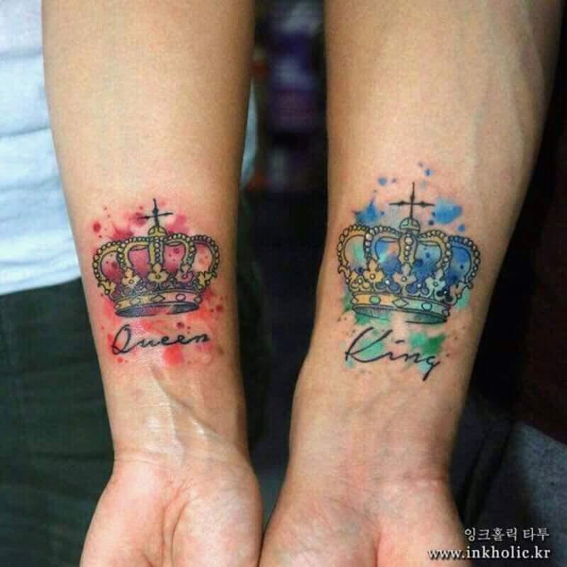 Tatuaje Corona De Rey Con Nombre Sfb