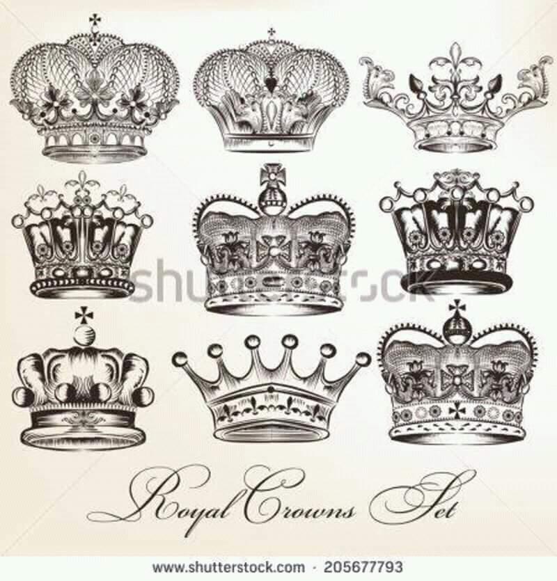 Corona De Rey Tatoo Hombre Sfb