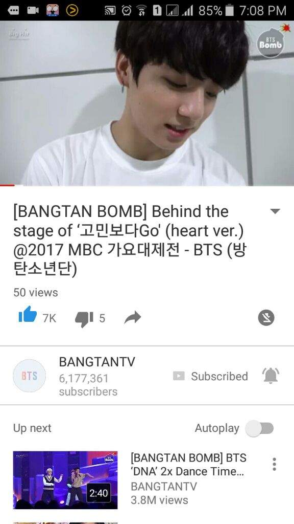 5d1dc79aeec3 NEW BANGTAN BOMB Behind The Stage Of Go Go(Heart Ver.) MBC 2017 ...