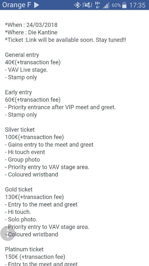 Tickets prices meet greet in cologne vav amino m4hsunfo