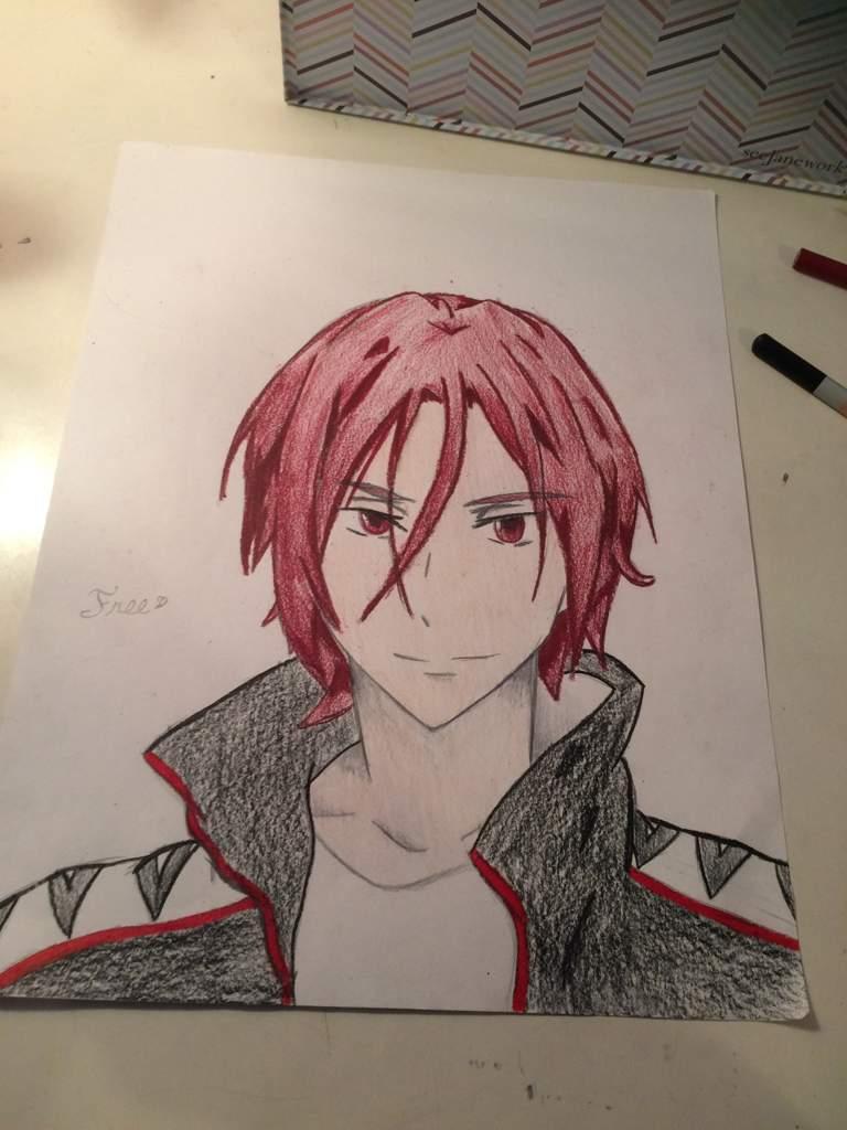 Rin Matsuoka Art Free Amino He has short red hair and red eyes. rin matsuoka art free amino