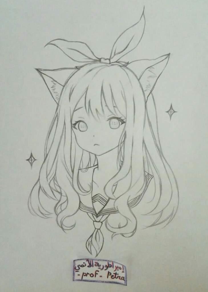 رسم فتاة انمي بطريقة بسيطة امبراطورية الأنمي Amino