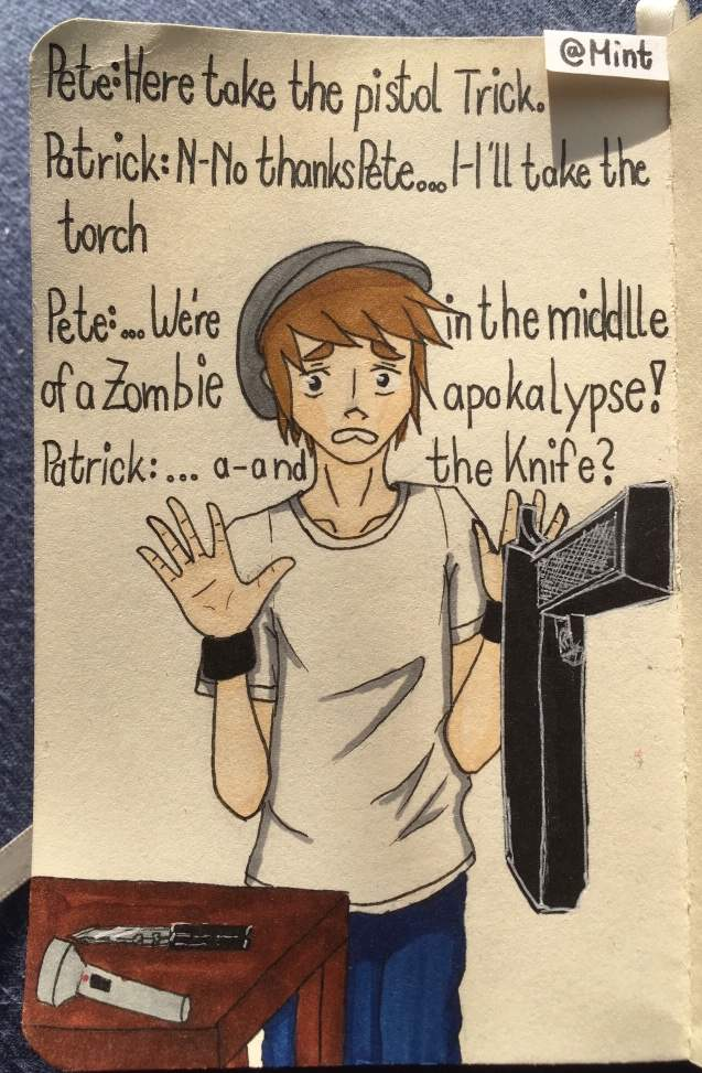 Drawing Of Patrick In A Zombie Apocalypse Crankthatfrank Amino