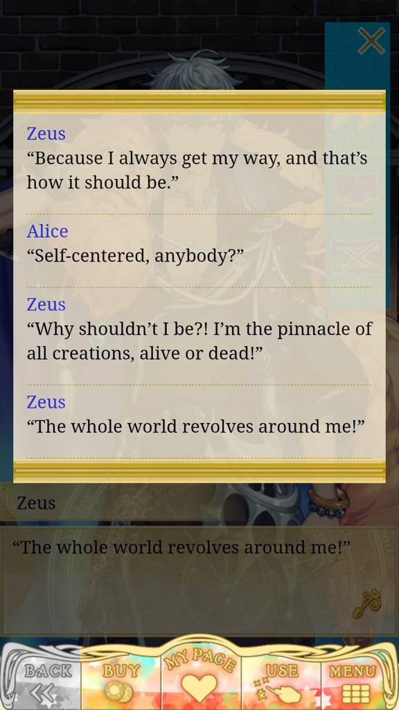 My Thoughs on Zeus Brundle So Far | Otome Amino