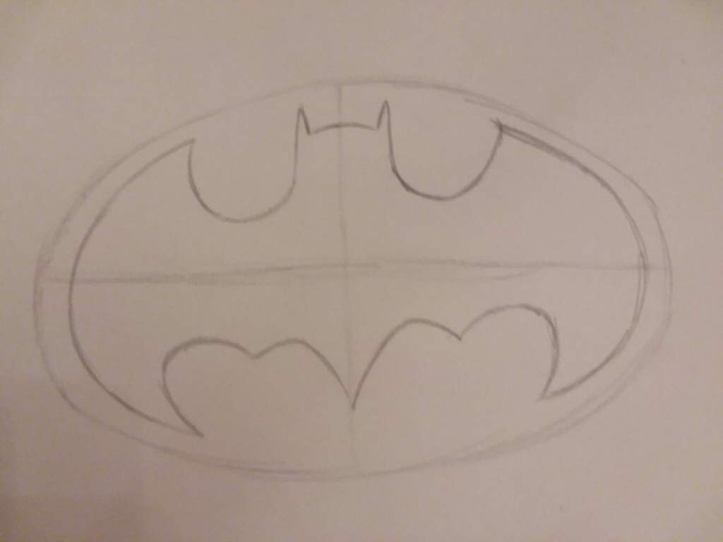 Quick Sketch Of Batman Symbol Dc Entertainment Amino