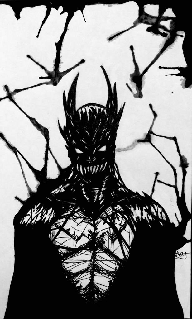 Batman/Venom drawing | Comics Amino - 70.1KB