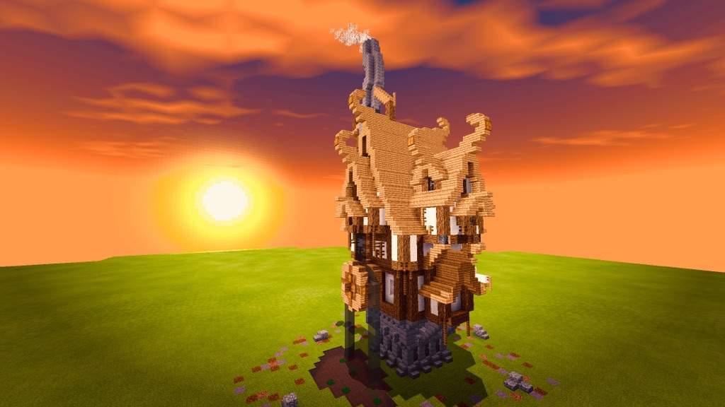 Steampunk House Dawnrise Lodge Minecraft Amino