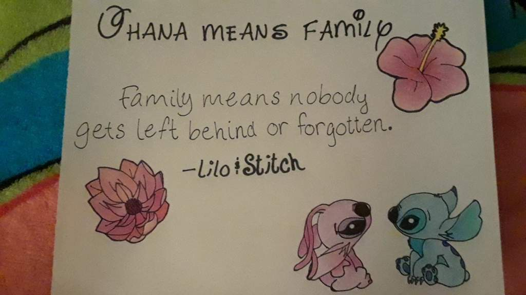 Lilo And Stitch Quote Drawing Disney Amino