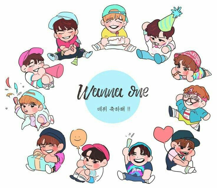 Wanna One Wallpapers Cartoon Chibi Wanna One 워너원 Amino