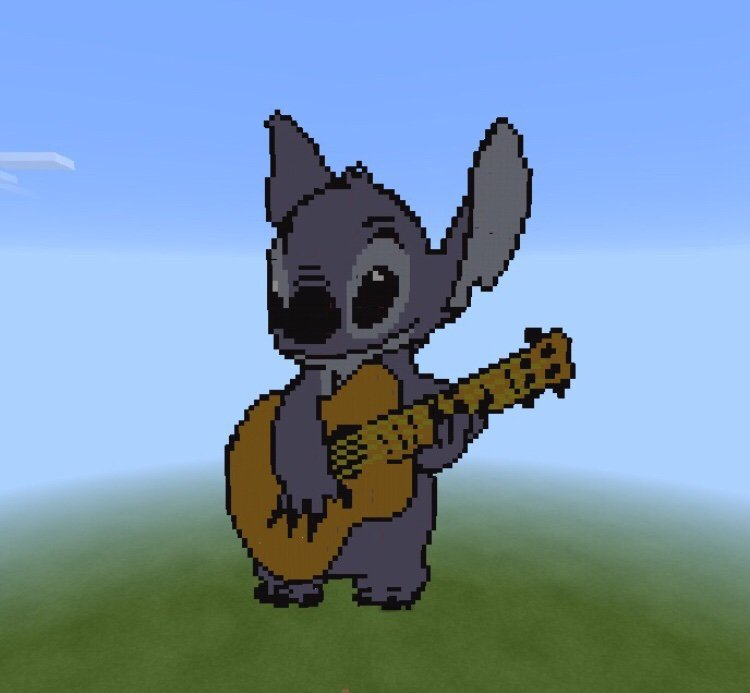 Stitch Pixel Art Minecraft Amino