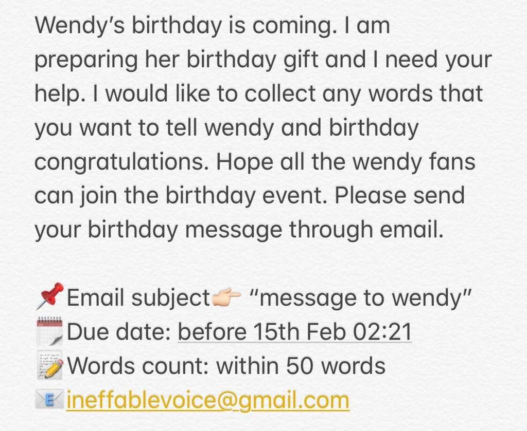 Wendys Birthday Gift Project