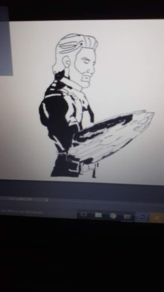 Fanart Capitao America Vingadores Guerra Infinita Marvel