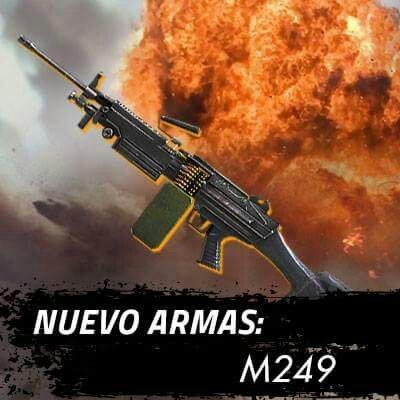 Ametralladora M249 Actualizacion Free Fire Febrero 2018 Parte 1