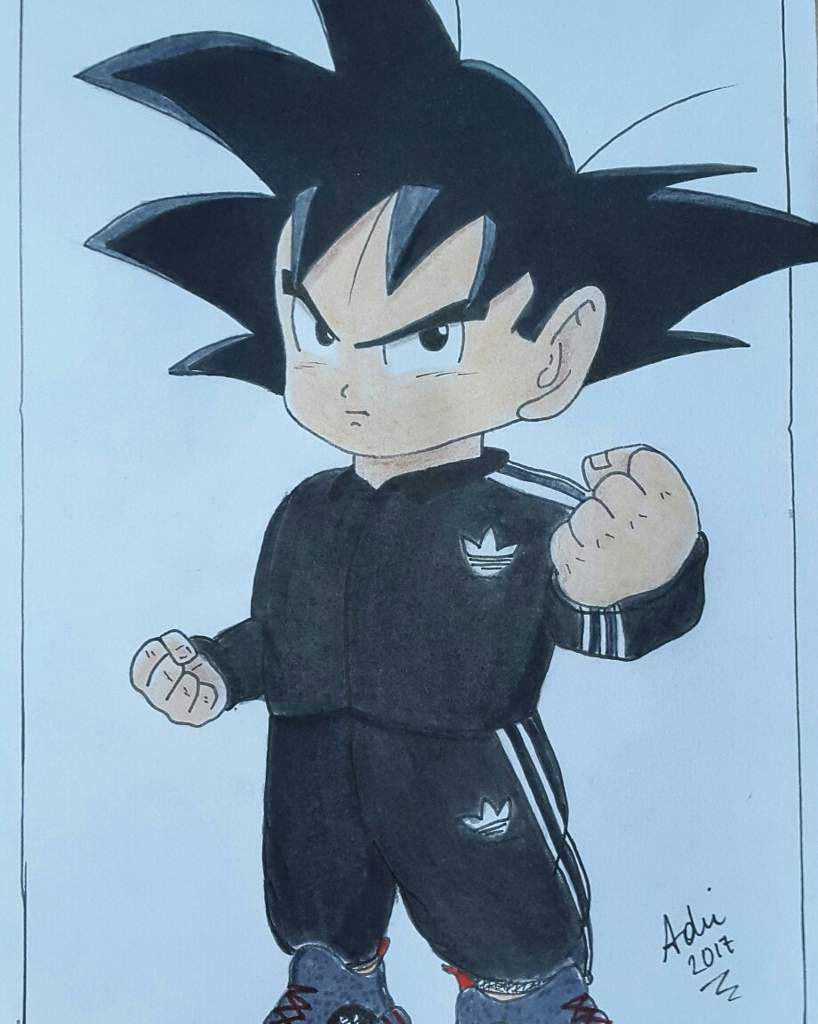 De Goku Con Adidas Dibujo En Ropa Seguirme Instagram ;Recuerda UGqVzLMSp