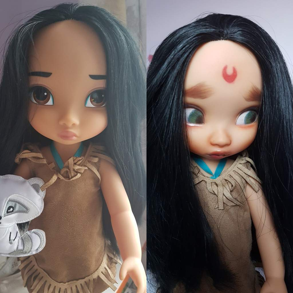 Disney animator pocahontas repaint toys amino it took me awhile to actually muster up the courage to paint pocahontas because i really do love her factory face publicscrutiny Images