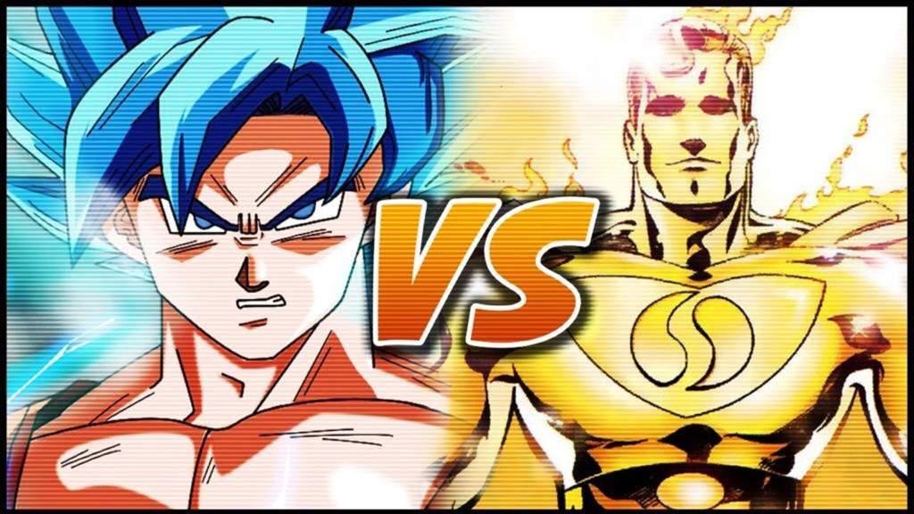 God Son Gokū Vs Superman Prime One Million Dragonballz Amino