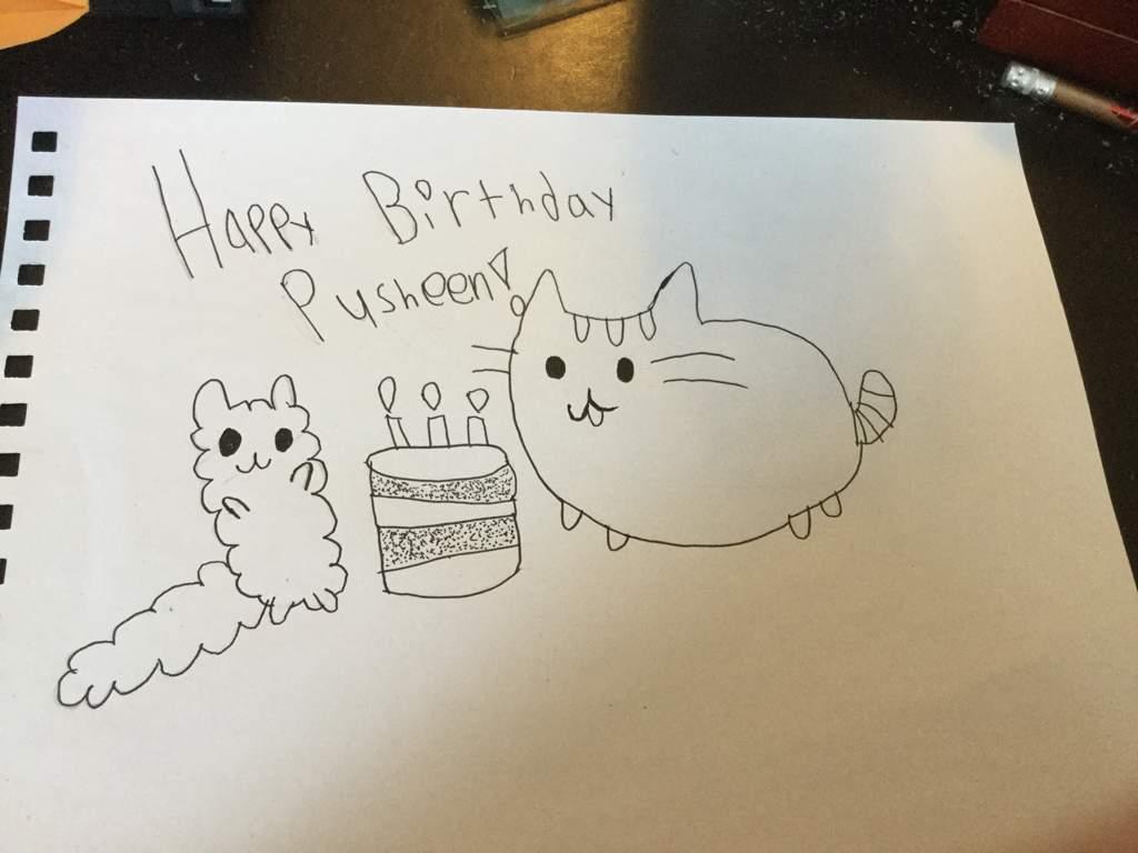 Pusheens Birthday Art Pusheen The Cat Amino Amino