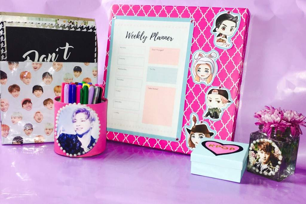 Diy Kpop Desk Decor Organization Using Recycled Items Video Uploading Soon K Pop Amino